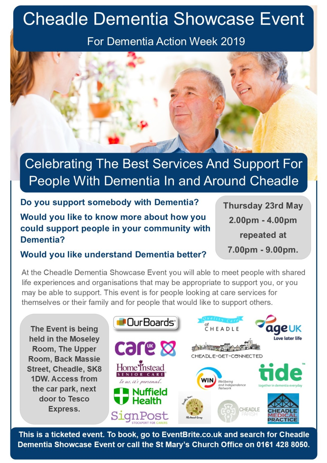 Cheadle Dementia Showcase Event 2019 Flyer